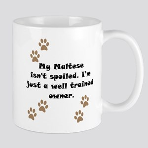 Well Trained Maltese Owner Small Mug