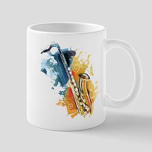 Saxophone Painting Mugs