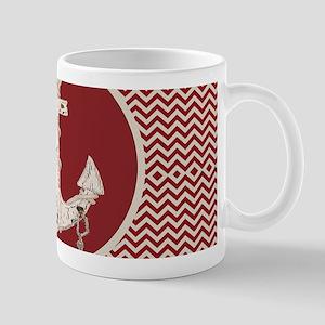 red chevron nautical anchor Mugs
