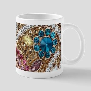 bohemian turquoise red rhinestone Mugs