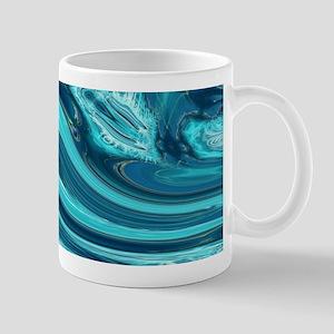 summer beach turquoise waves Mugs