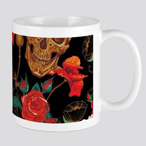 floral Skulls Mugs