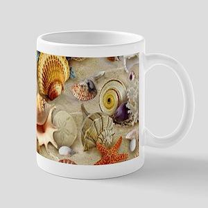 Seashells And Starfish Mugs