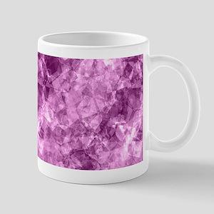 Girly Purple Pink Crumpled Abstract Pattern Mugs