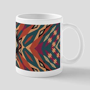Aztec Pattern Earthy Warm tones Mugs