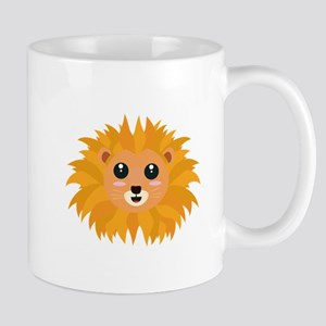 Kawaii lion head Mugs