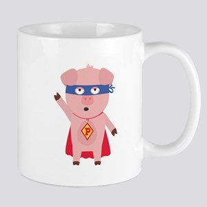 Superhero Pig Mugs