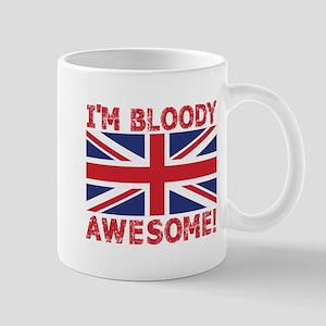 I'm Bloody Awesome! Union Jack Flag Mugs