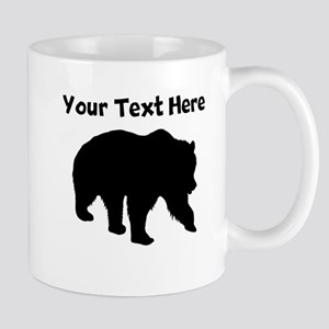 Grizzly Bear Silhouette Mugs