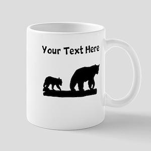 Bear And Cub Silhouette Mugs