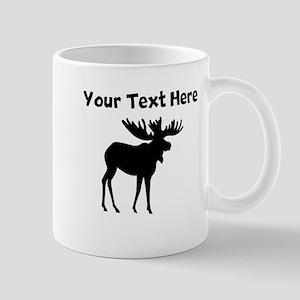 Custom Moose Silhouette Mugs