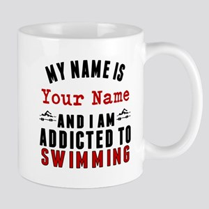 Addicted To Swimming Mugs
