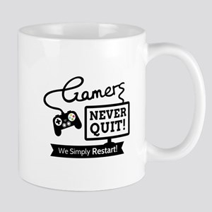 Gamers Never Quit Funny Quote Mugs