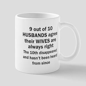 9 out of 10 HUSBANDS Mugs