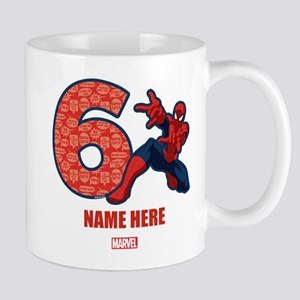 Spider-Man Personalized Birthday 6 Mug