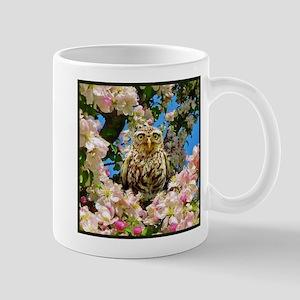 Owl in Blossom Mugs