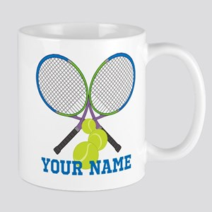Personalized Tennis Player Mugs