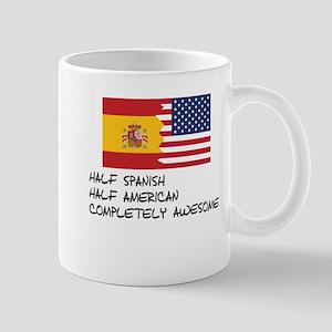 Half Spanish Completely Awesome Mugs