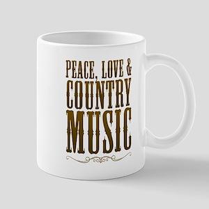 Peace Love Country Music Mugs