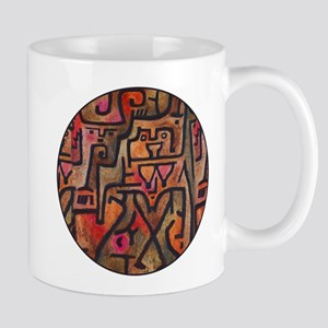 Paul Klee Red Nature Abstract Forest Mugs