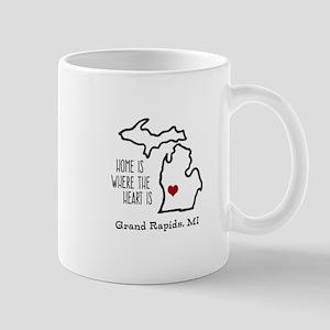 Personalized Michigan Heart Mugs