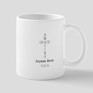 Amazing Grace Cross Custom Personalized Mugs