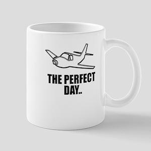 flying airplane Mugs