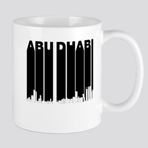 Retro Abu Dhabi Skyline Mugs