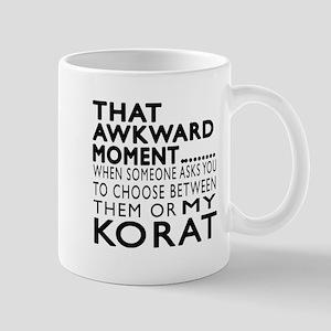 Awkward Korat Cat Designs Mug