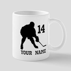 Custom Hockey Player Gift Mugs