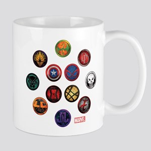 Marvel Grunge Icons Mug