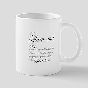 Glam-ma Grandma Hand lettered art Mugs