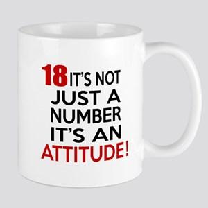 18 It Is Not Just a Number Birthday Des Mug