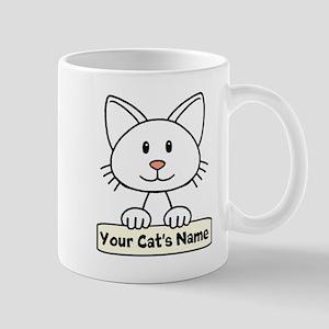 Personalized White Cat Mug