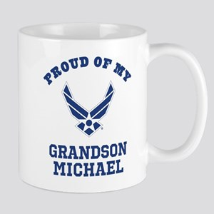 Air Force Grandson Personalized Mugs
