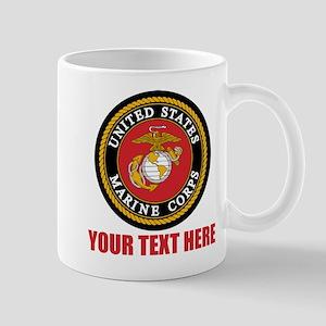 USMC Logo Personalized Mug