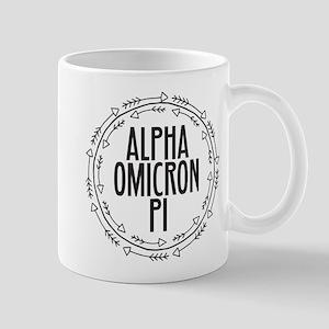 Alpha Omicron Pi Arrows 11 oz Ceramic Mug
