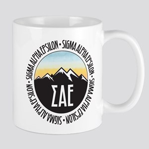 Sigma Alpha Epsilon Sunset 11 oz Ceramic Mug