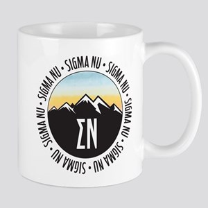 Sigma Nu Mountain Sunset 11 oz Ceramic Mug