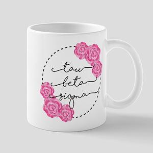 Tau Beta Sigma Sorority Pink Rose Mugs