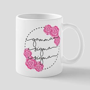 gamma sigma sigma floral 11 oz Ceramic Mug