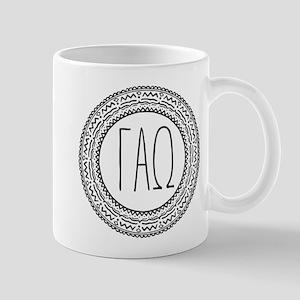 Gamma Alpha Omega Medallion 11 oz Ceramic Mug