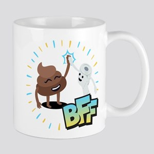 Emoji Poop Toilet Paper BFF 11 oz Ceramic Mug