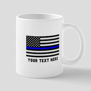 Thin Blue Line Flag 11 oz Ceramic Mug