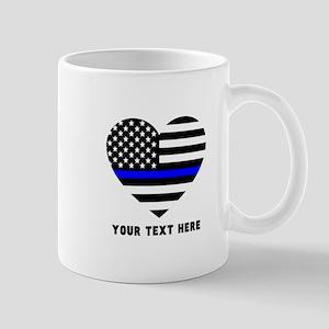 Thin Blue Line Love 11 oz Ceramic Mug