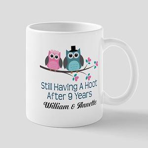 9th Wedding Anniversary Personalized Gift Mugs