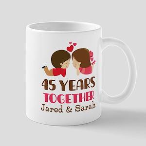 45th Anniversary Personalized Gift Mugs