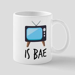 TV is Bae Emoji 11 oz Ceramic Mug