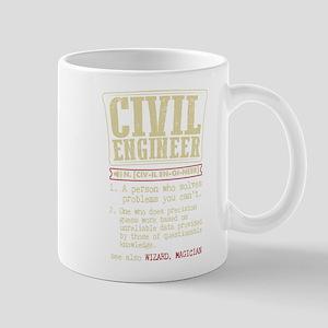 Civil Engineer Funny Dictionary Term Mugs