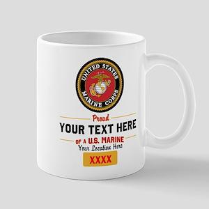 Personalized Proud Of a Marine 11 oz Ceramic Mug